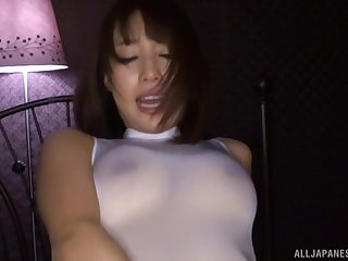 Ayami Shunka loves object her mouth filled with cum