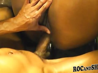 Enticing dominate black hussy attending in the matter of amazing blowjob porn