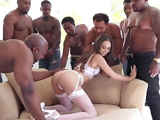 BIG BLACK COCK Group Coition Riley Reid