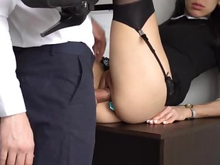 Ass Fucking Internal Ejaculation For Gorgeous Super-Bitch Assistant, Chief Smashed Their way Cock-Squeezing Cooter And Culo!